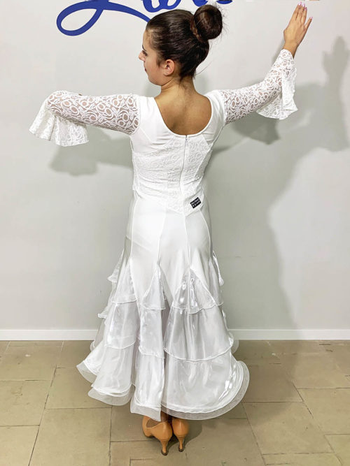 Lace dress promotional woman, organza triangles and horsehair
